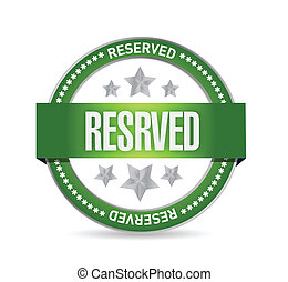 reserved seal stamp illustration design