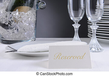 Reserved Sing on Restaurant Table