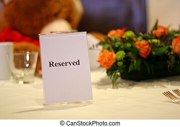 Reserved Table Signs Group Of Reserved Table Signs In A Restaurant - Restaurant table signs