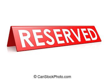 Reserved tag in red