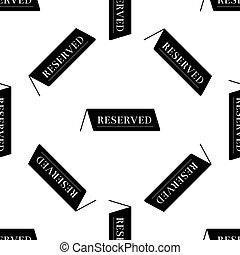 reserverat, mönster, seamless, illustration, bakgrund., vektor, vit, ikon