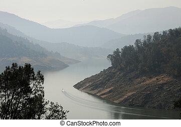 Pine Flats reservoir and Kings river, California
