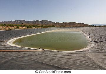 reservoir for crop irrigation