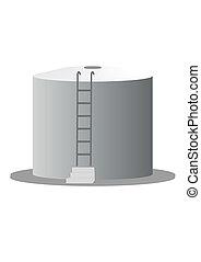 Reservoir (illustration). - A large container of petroleum...