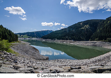 reservoir in the mountains
