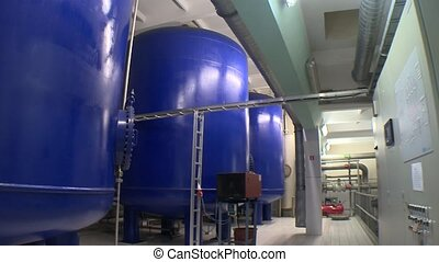 reservoirs for water treatment sludge storage. Biogas...