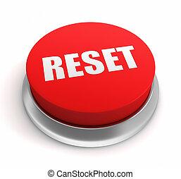 reset button concept 3d illustration