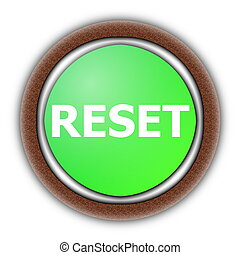 reset button illustration isolated on white background