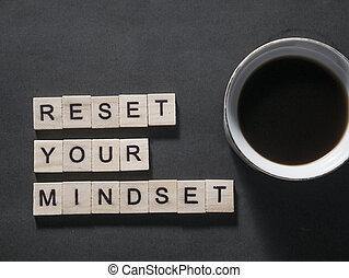 reset, conceito, motivational, mindset, citação, palavras, seu