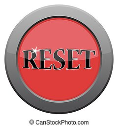 A reset dark metal icon isolated on a white background