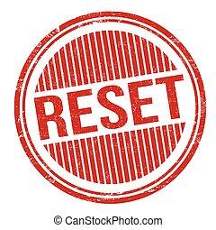 Reset grunge rubber stamp on white background, vector illustration