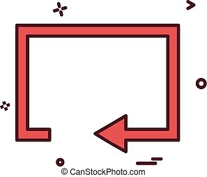 Reset icon design vector