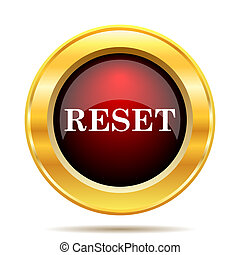 Reset icon. Internet button on white background.
