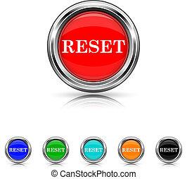Reset icon - six colours set