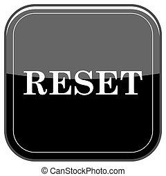 Reset icon - Glossy shiny icon - black internet button