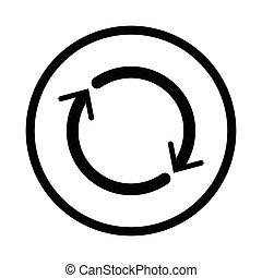 Reset icon - vector iconic design - Reset icon, iconic ...