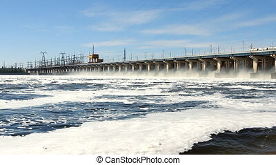 hydroelectric power station on the
