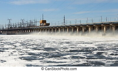 Reset of water at hydroelectric pow