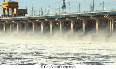 Reset of water at hydroelectric powerplant
