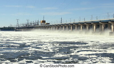 Reset of water at power station