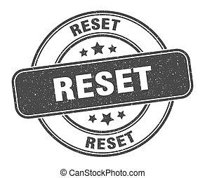 reset stamp. reset sign. round grunge label