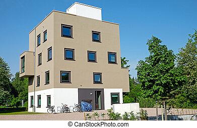 residência, modernos, multi-family