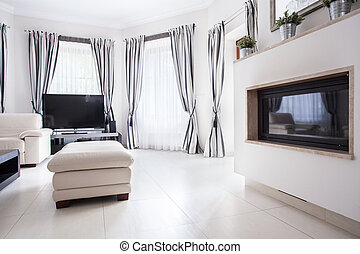 residência, sala, luxo, desenho