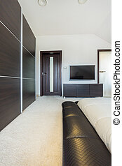 residência, sala, luxo, espaçoso