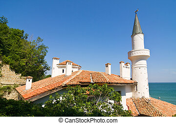Residence of the Romanian queen by the black sea in Balchik, Bulgaria