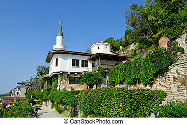 Residence of the Romanian queen by the black sea in Balchik,...