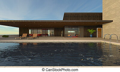 residence with pool