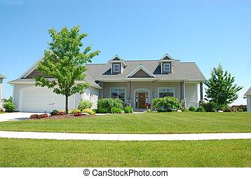 residencial, americano, upscale, casa