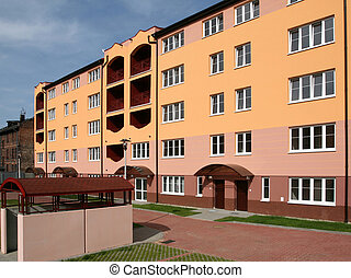 residencial, arquitectura
