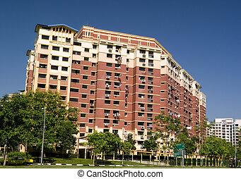 residencial, caja, apartamento, singapur