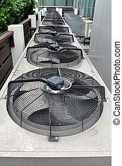 residencial, condicionador ar, compressor, unidades