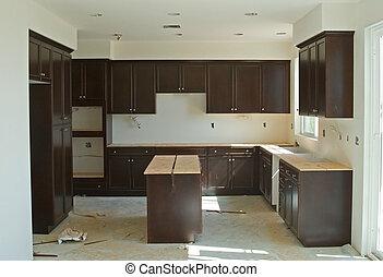 residencial, construcción, remodelar