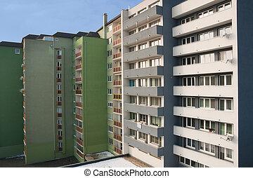 residencial, edifícios