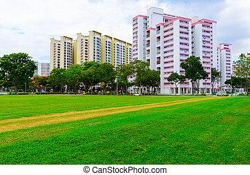 residencial, edificios, singapur