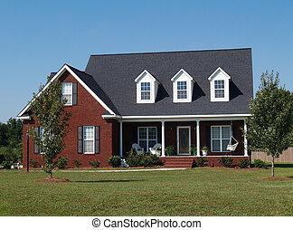 residencial, história, dois, lar