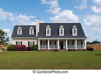 residencial, historia, dos, hogar