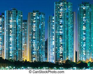 residencial, hong, distrito, kong