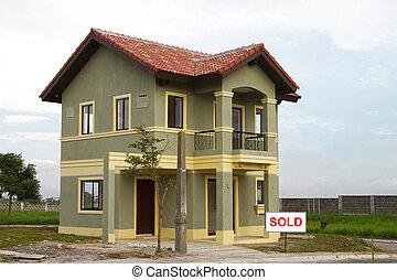 residencial, lar, vendido