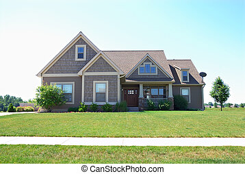 residencial, norteamericano, upscale, casa