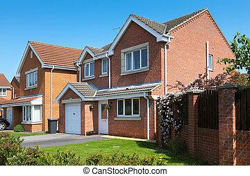 residencial, típico, propriedade, inglês