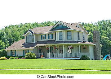 residencial, upscale, americano, casa