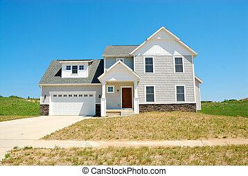 residencial, upscale, norteamericano, casa