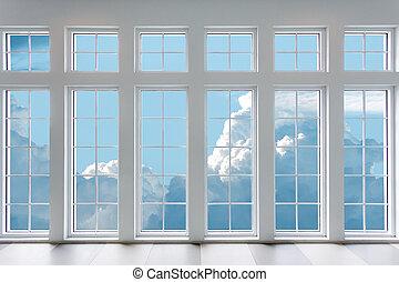residencial, ventana