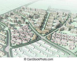residencial, wireframe, comunidad
