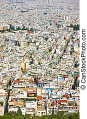 Residental areas of Athens city - View of residental areas...