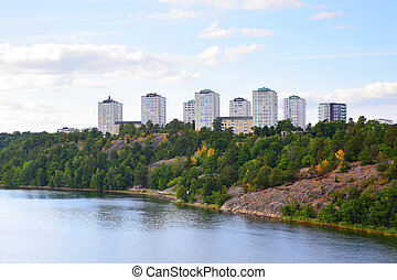 Residental district in Stockholm - Residental district on...